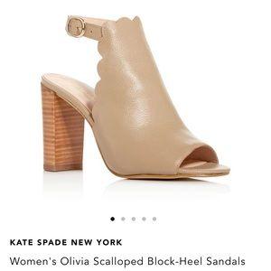 Kate Spade Olivia Scalloped Block Heel Sandal